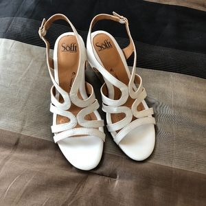 """NWOT """"Corinth"""" style leather wedge sandals"""